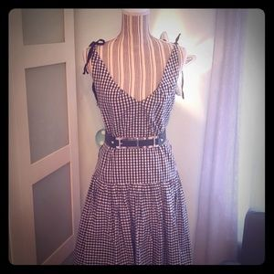 Cynthia Rowley silk plaid dress